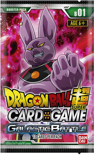 Dragon Ball Super Collectible Card Game Series 1 Galactic Battle Booster Pack DBS-B01 [12 Cards]
