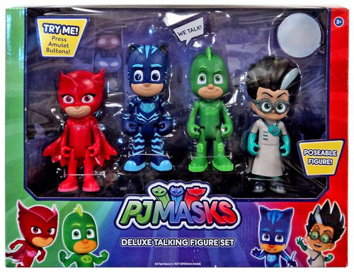 Disney Junior PJ Masks Catboy, Gekko, Owlette & Romeo Exclusive Talking Action Figure 4-Pack