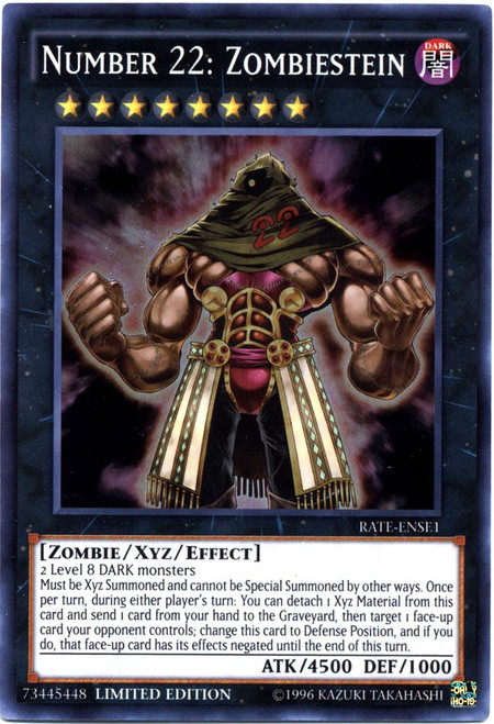 YuGiOh Raging Tempest Super Rare Number 22: Zombiestein RATE-ENSE1