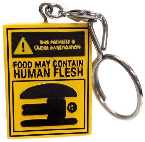 Bob's Burgers Keychain Food May Countain Human Flesh Sign 1/24 Loose Figure