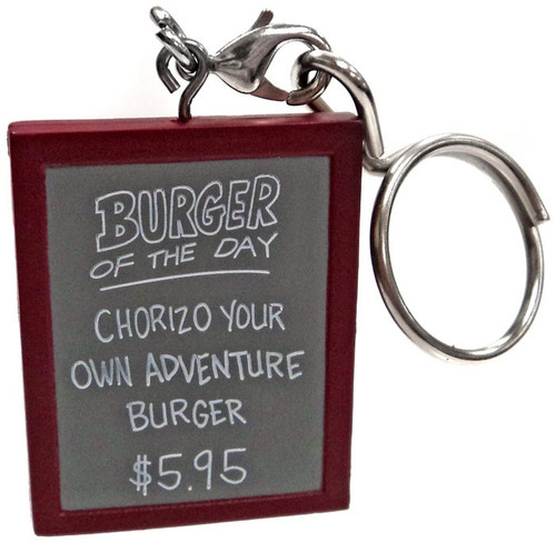 Bob's Burgers Keychain Burger of the Day Sign #2 1/48 Loose Figure [Chorizo Your Own Adventure Burger]