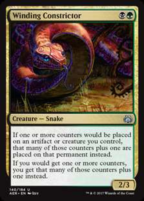 MtG Aether Revolt Uncommon Foil Winding Constrictor #140