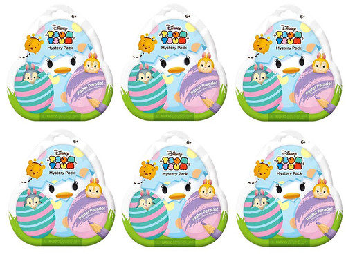 Disney Tsum Tsum Pastel Parade LOT of 6 Mystery Stack Packs
