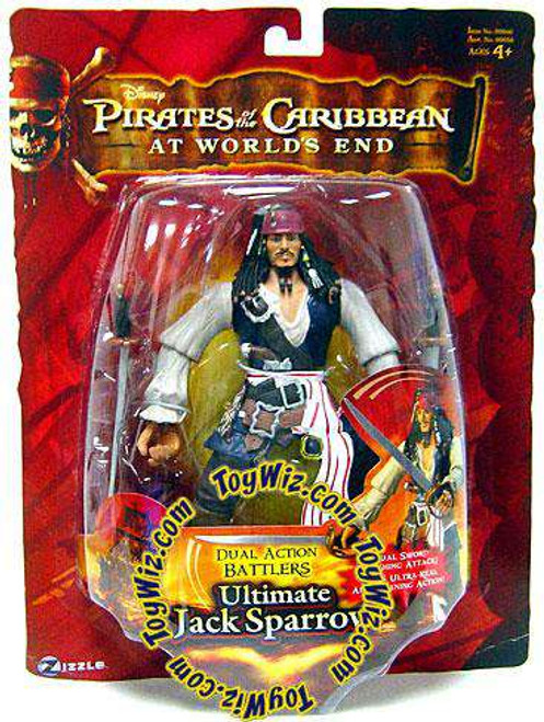 Pirates of the Caribbean At World's End Dual Action Battlers Jack Sparrow Action Figure [Ultimate, Damaged Package]