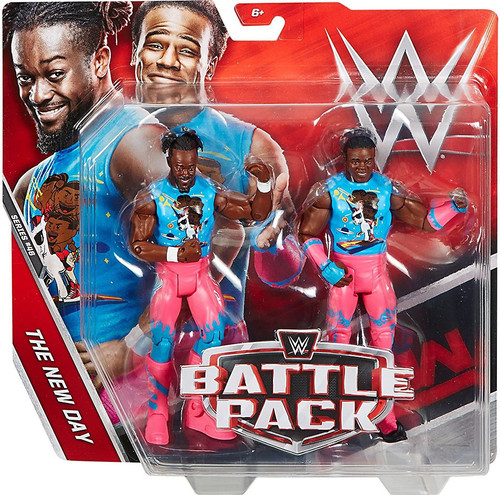 WWE Wrestling Battle Pack Series 46 Xavier Woods & Kofi Kingston Action Figure 2-Pack [New Day]