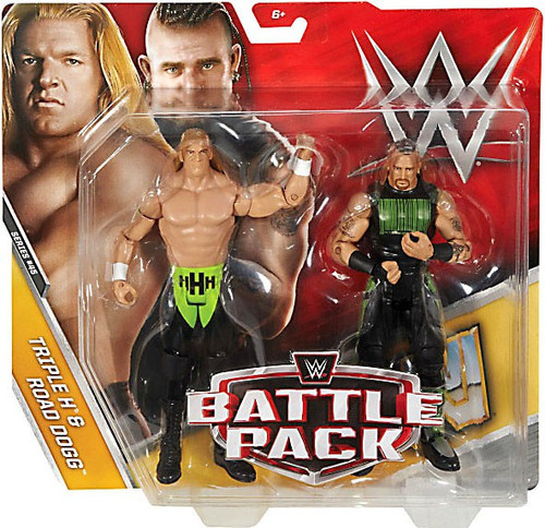 WWE Wrestling Battle Pack Series 45 Triple H & Road Dogg Action Figure 2-Pack