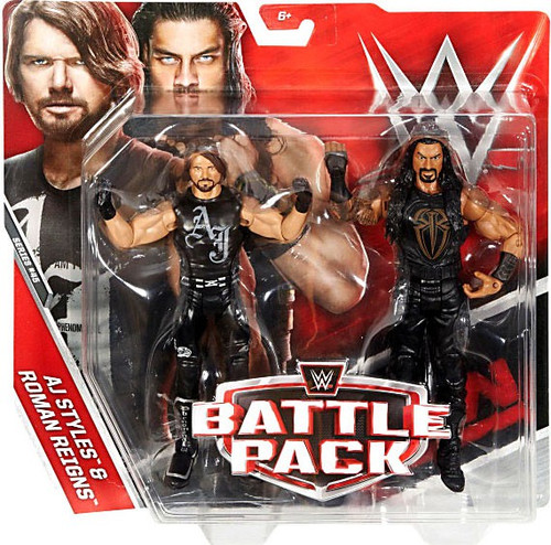 WWE Wrestling Battle Pack Series 45 AJ Styles & Roman Reigns Action Figure 2-Pack