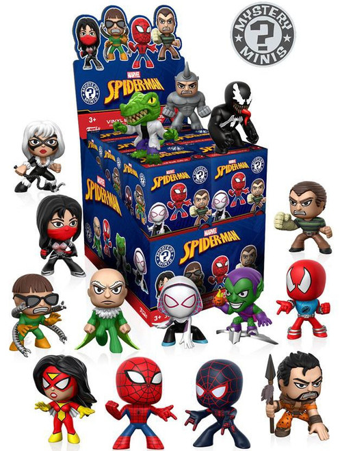 Funko Marvel Mystery Minis Spider-Man Classic Mystery Box [12 Packs]