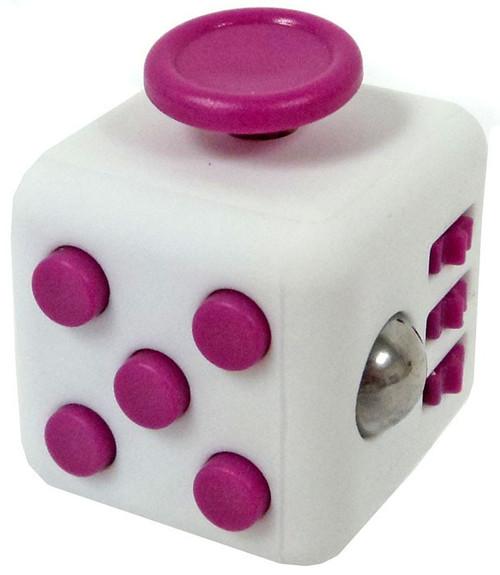 Fidget Cube White & Pink Fidget Gadget Cube