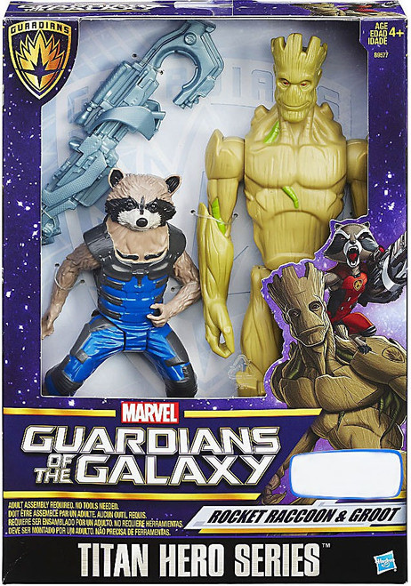 Marvel Guardians of the Galaxy Titan Hero Series Rocket Raccoon & Groot Exclusive Action Figure 2-Pack