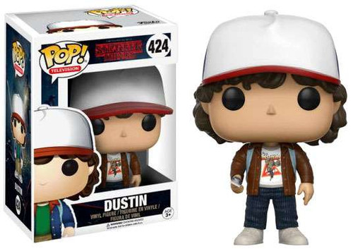 Funko Stranger Things POP! TV Dustin Henderson Exclusive Vinyl Figure #424 [Brown Jacket]