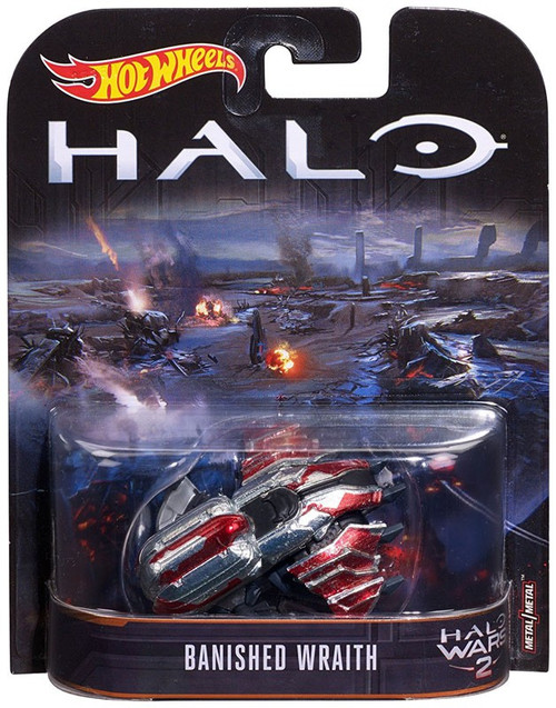 Hot Wheels Halo Wars 2 Banished Wraith Diecast Car