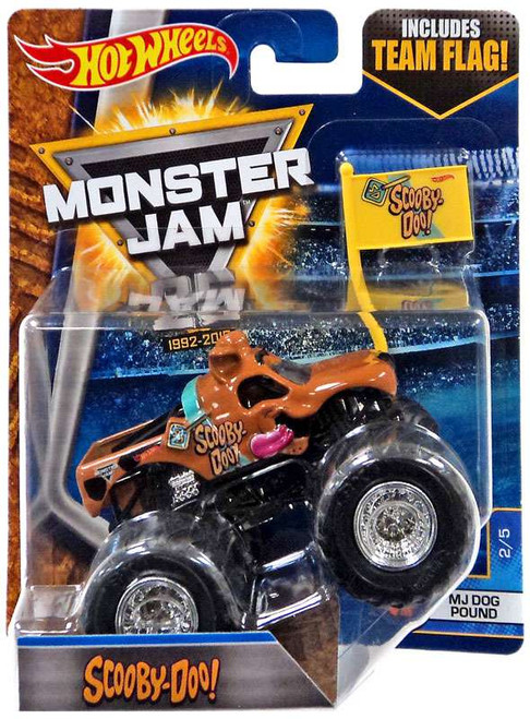 Hot Wheels Monster Jam 25 Scooby-Doo! Die-Cast Car #2/5 [MJ Dog Pound, Flag]