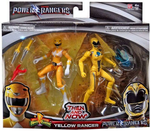 Power Rangers Movie Then and Now Yellow Ranger Action Figure 2-Pack