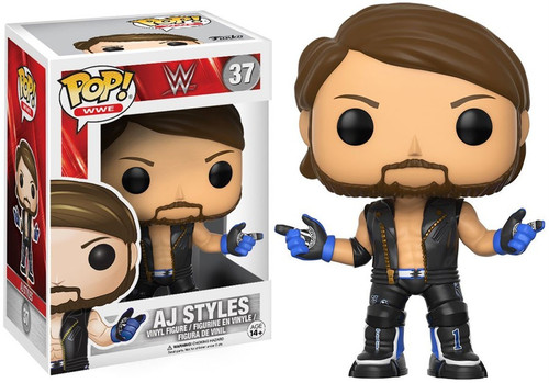 Funko WWE Wrestling POP! Sports AJ Styles Vinyl Figure #37