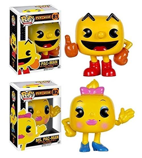 Funko Pac Man POP! Games Pac-Man & Ms. Pac-Man 2 Piece Bundle Vinyl Figure