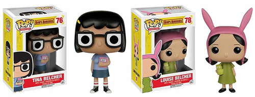 Funko Bob's Burgers POP! Animation Tina Belcher & Louise Belcher 2 Piece Set Vinyl Figure