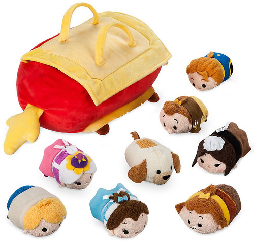 Disney Tsum Tsum Beauty and the Beast Exclusive 3.5-Inch Set of 8 Mini Plush & Bag