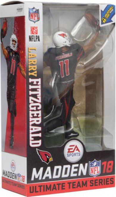 McFarlane Toys NFL Arizona Cardinals EA Sports Madden 18 Ultimate Team Series 1 Larry Fitzgerald Action Figure [Black Uniform]