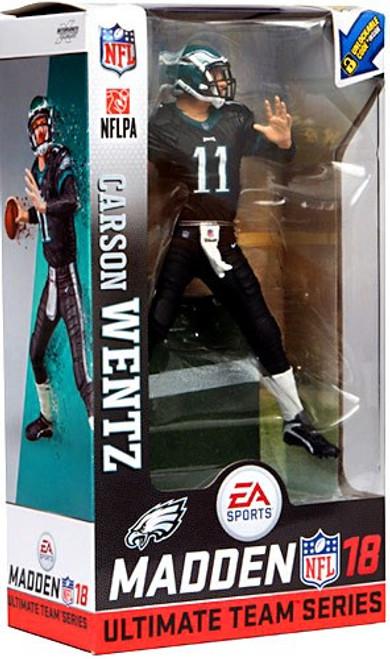 McFarlane Toys NFL Philadelphia Eagles EA Sports Madden 18 Ultimate Team Series 1 Carson Wentz Action Figure [Dark Green Uniform]