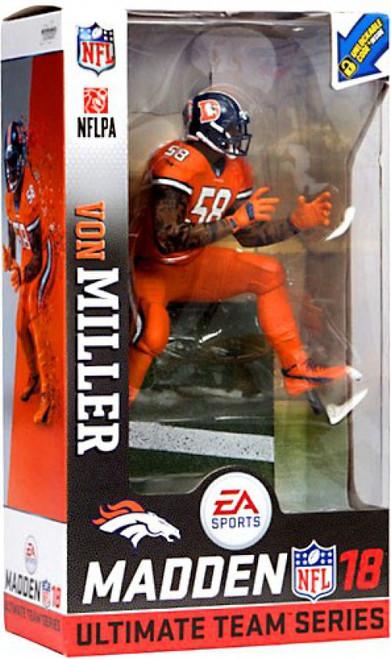McFarlane Toys NFL Denver Broncos EA Sports Madden 18 Ultimate Team Series 1 Von Miller Action Figure