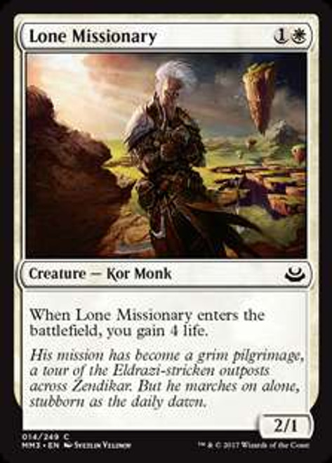 MtG Modern Masters 2017 Edition Common Lone Missionary #14
