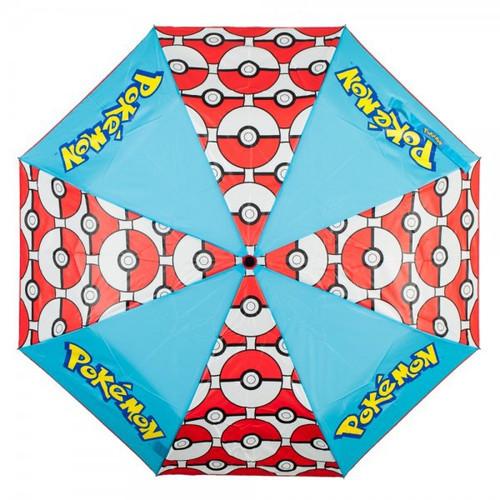 Pokemon Pokeball Panel Umbrella Apparel