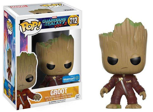 Funko Guardians of the Galaxy Vol. 2 POP! Marvel Groot Exclusive Vinyl Bobble Head #212 [Angry, Ravager Suit]