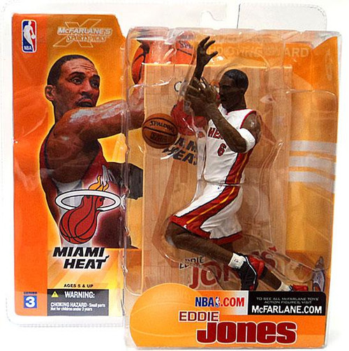 McFarlane Toys NBA Miami Heat Sports Picks Series 3 Eddie Jones Action Figure [White Jersey Variant]
