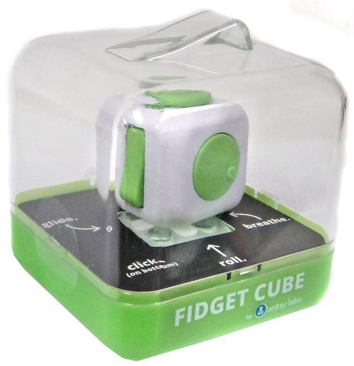 Fidget Cube Authentic Green & White Fidget Cube