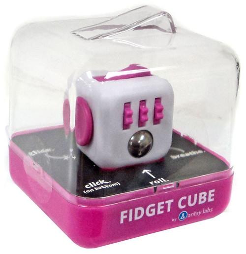 Fidget Cube Authentic Pink & White Fidget Cube