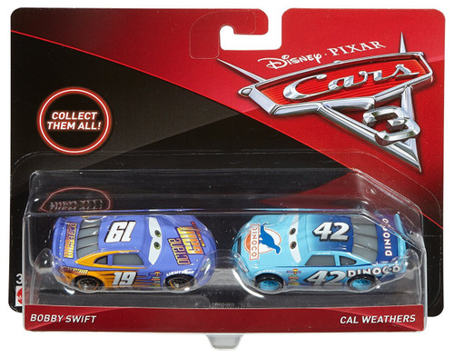 Disney / Pixar Cars Cars 3 Bobby Swift & Cal Weathers Diecast 2-Pack