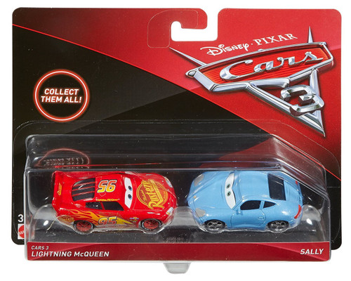 Disney / Pixar Cars Cars 3 Lightning McQueen & Sally Diecast 2-Pack