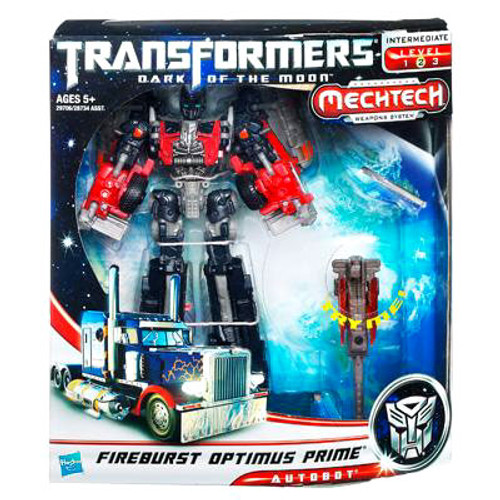 Transformers Dark of the Moon Mechtech Voyager Fireburst Optimus Prime Voyager Action Figure [Damaged Package]