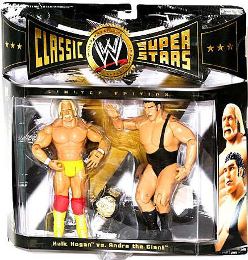 WWE Wrestling Classic Superstars Andre The Giant vs. Hulk Hogan Exclusive Action Figure 2-Pack [Damaged Package]