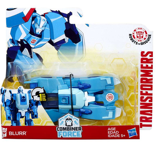 Transformers Robots in Disguise 1 Step Changers Blurr Action Figure [Combiner Force, Damaged Package]