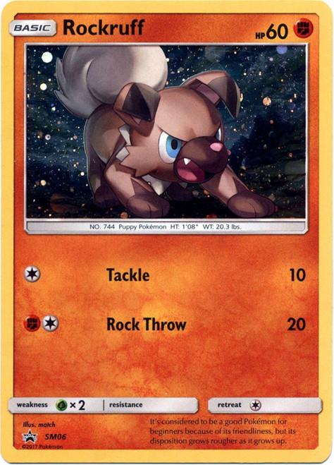 Pokemon Sun & Moon Promo Rare Holo Rockruff SM06