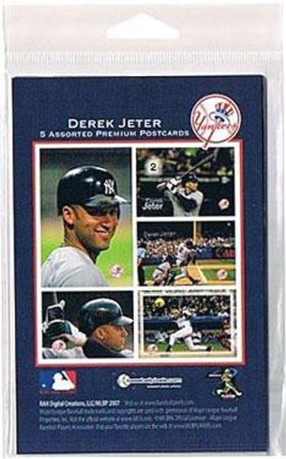 NY Yankees Derek Jeter 4x6 set of Postcards [5 assorted Postcards]
