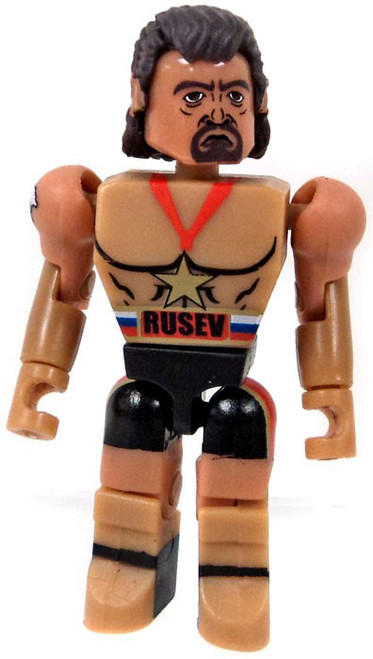 WWE Wrestling C3 Construction StackDown Rusev Figure [Loose]