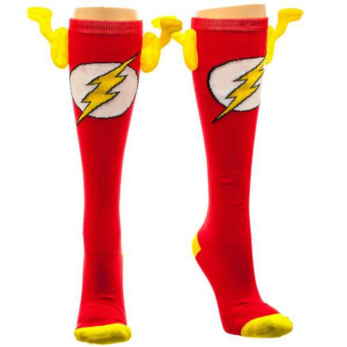 DC Flash Knee High Socks with Wings Apparel