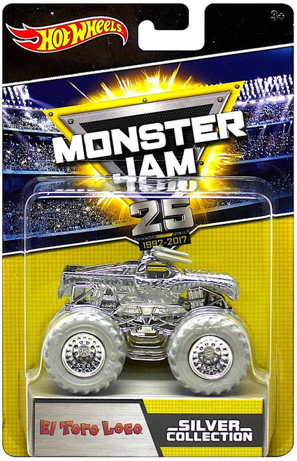 Hot Wheels Monster Jam 25 Silver Collection El Toro Loco Diecast Car