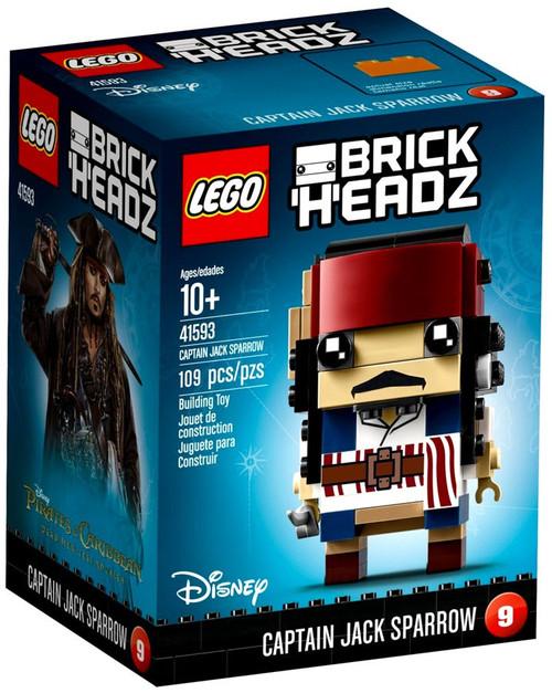 LEGO Pirates of the Caribbean Brick Headz Captain Jack Sparrow Set #41593