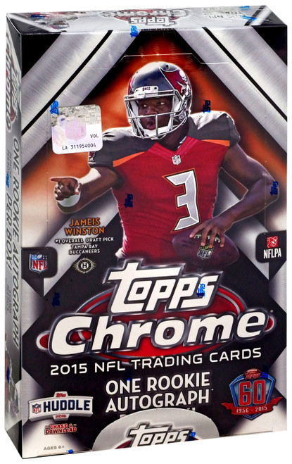 NFL Topps 2015 Chrome Football Trading Card HOBBY Box [24 Packs, 1 Rookie Autograph]