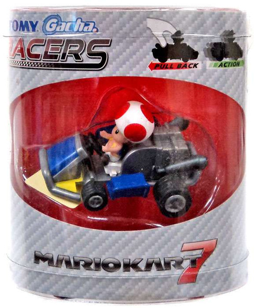 Super Mario Mario Kart Gacha Racers Toad Pull Back Racer