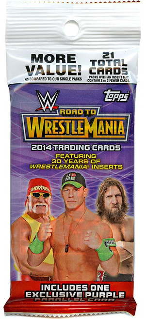 WWE Wrestling Topps 2014 Road to WrestleMania Trading Card RETAIL VALUE Pack