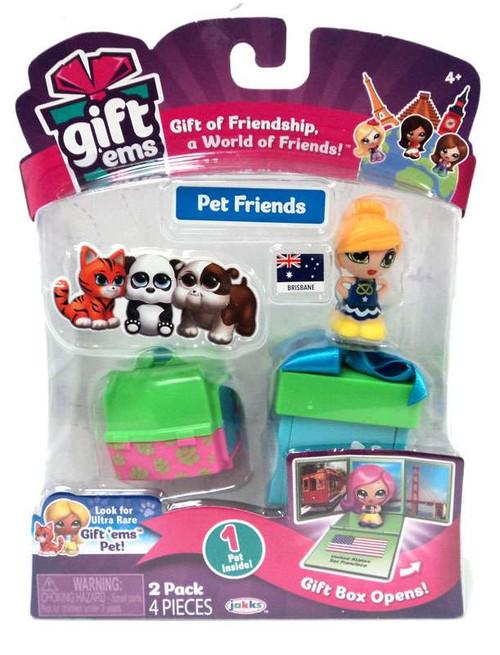 Gift 'Ems Pet Friends Series 1 Brisbane 2-Pack