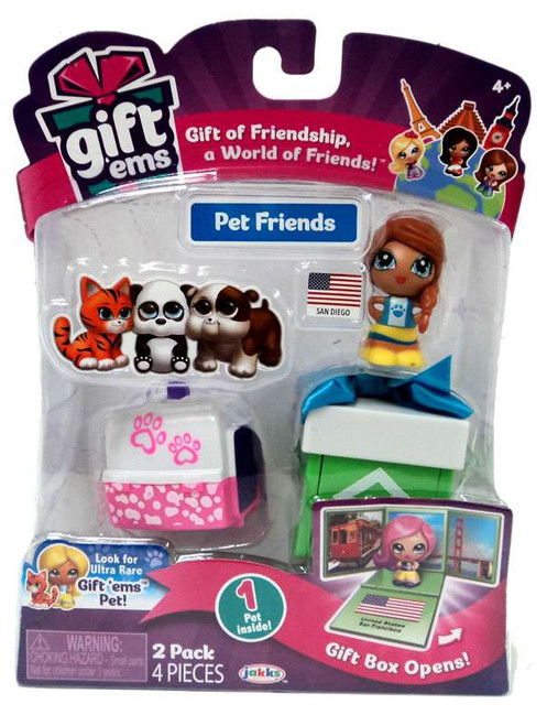 Gift 'Ems Pet Friends Series 1 San Diego 2-Pack