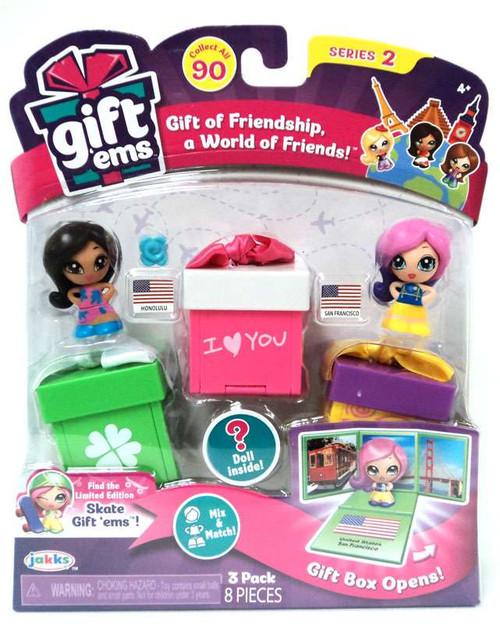 Gift 'Ems Series 2 Honolulu & San Francisco 3-Pack
