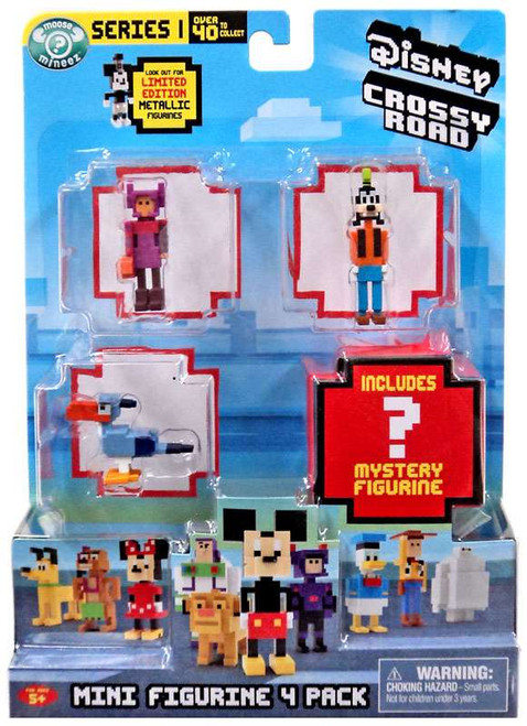 Crossy Road Disney Series 1 Goofy, Honey Lemon, Zazu & Mystery Figure Mini Figure 4-Pack