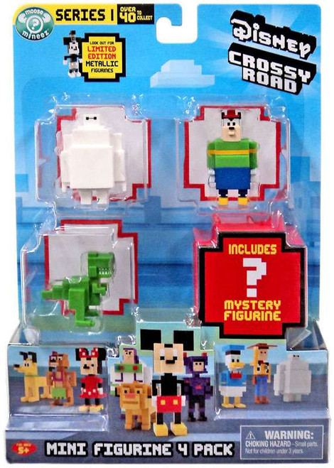 Crossy Road Disney Series 1 Baymax, Pete, Rex & Mystery Figure Mini Figure 4-Pack